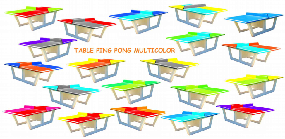 Quipements pour collectivit s table de ping pong b ton - Table de ping pong exterieur pour collectivite ...