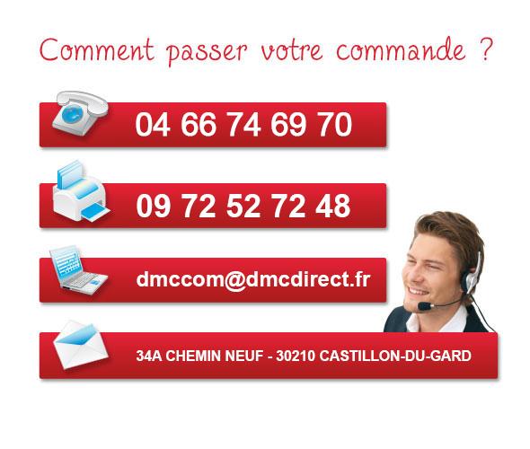 Passez votre commande avec DMC Direct