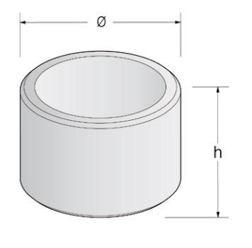 dessin technique de la jardinière ronde en béton de DMC Direct