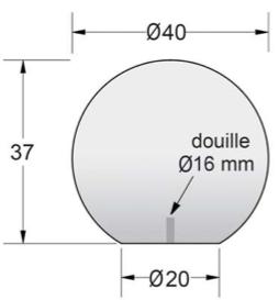 dimensions de la borne urbaine en béton dmc direct