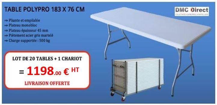 ef0677f5072 Table pliante rectangulaire pas chère