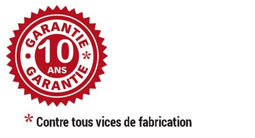 Logo de garnatie 10 ans contre vices de fabrication table scolaire octogonale louane - DMC Direct