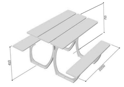dessin-technique-de-la-table-piquenique-