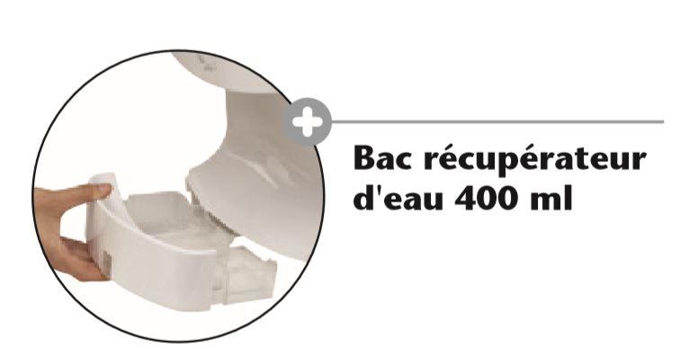 Détails du bac récupérateur d'eau 400 ml pour le sèche-mains Airsmile spécial PMR - DMC Direct