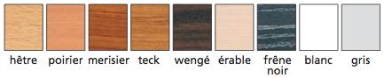 coloris de la table fixe universelle dmc direct